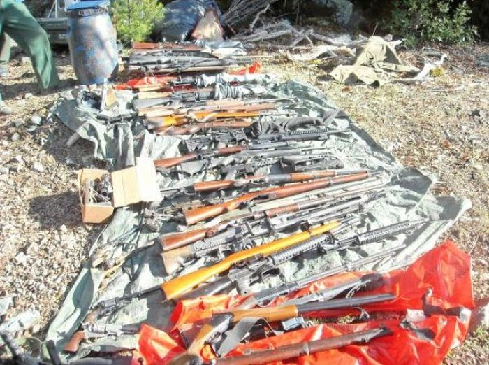 Guns Found Old Caves
