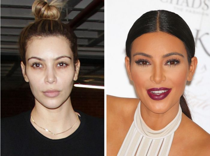 Image result for Beautiful Celebs Who Look VERY Different In Real Life Kim Kardashian