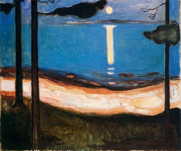 Moon Light, Edvard Munch (1895)