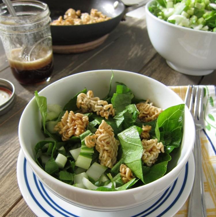 crispy bok choy ramen salad