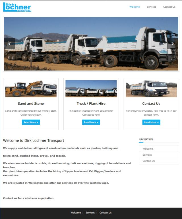 Dirk Lochner Transport Website