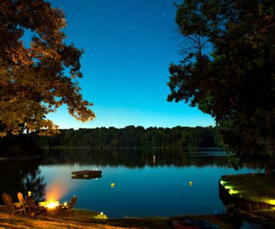 Free picture: river, travel, trees, water, bonfire, dusk ...