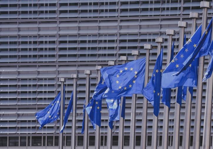 union européenne, liberté, bleu, bâtiment, liberté, étoiles, drapeaux