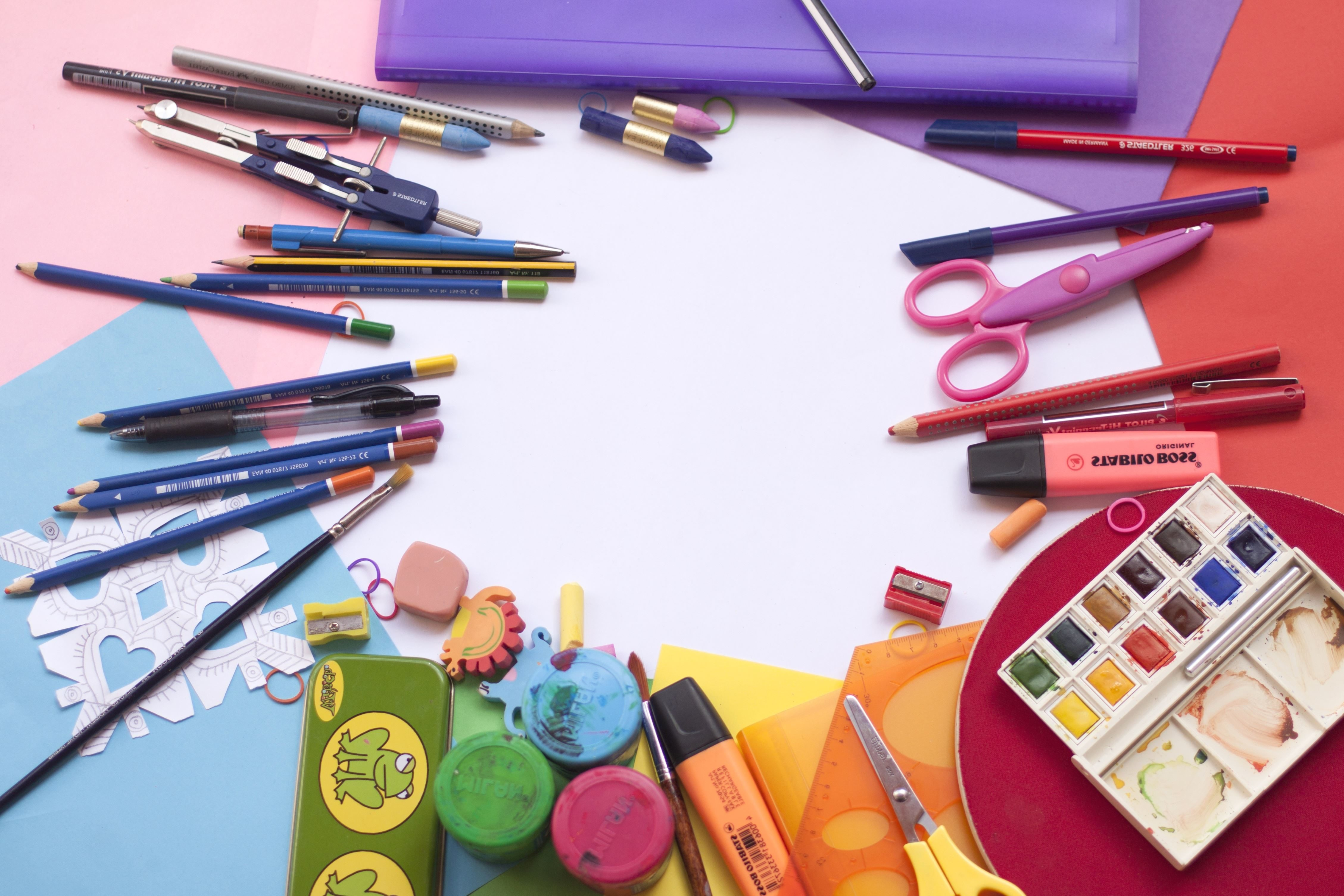 Free Picture Watercolor Work Color Design Desk