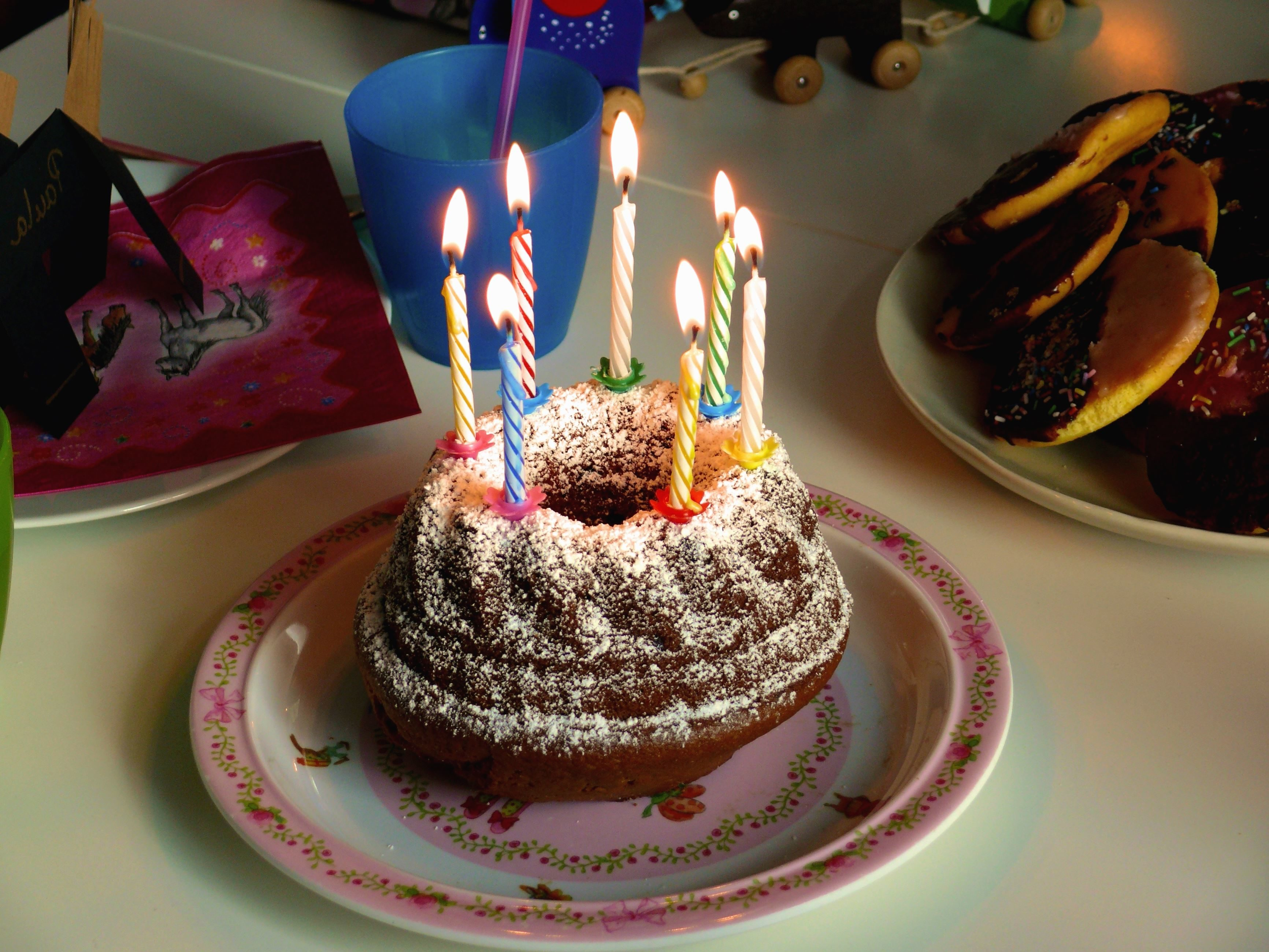 Free Picture Cake Birthday Celebration Candle Plate