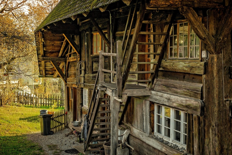 Free Picture Old Wooden House Structure Exterior
