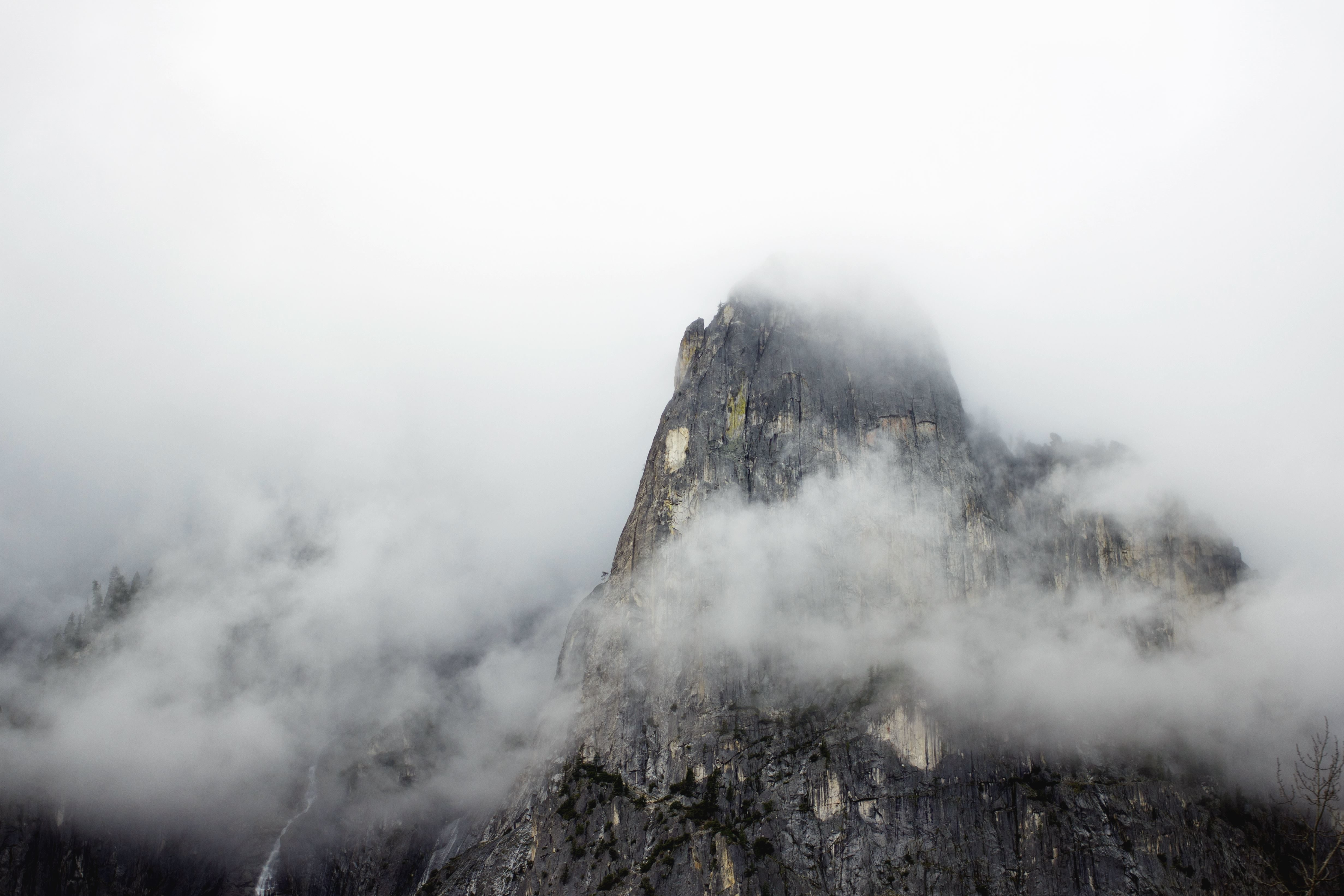 Free Picture Fog Mountains Rocks Nature