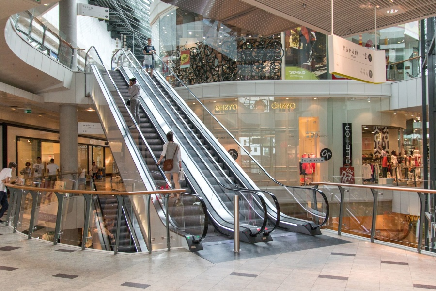 Free Picture Mobile Stairs Shopping Center People Glass Shop Boutique Fence