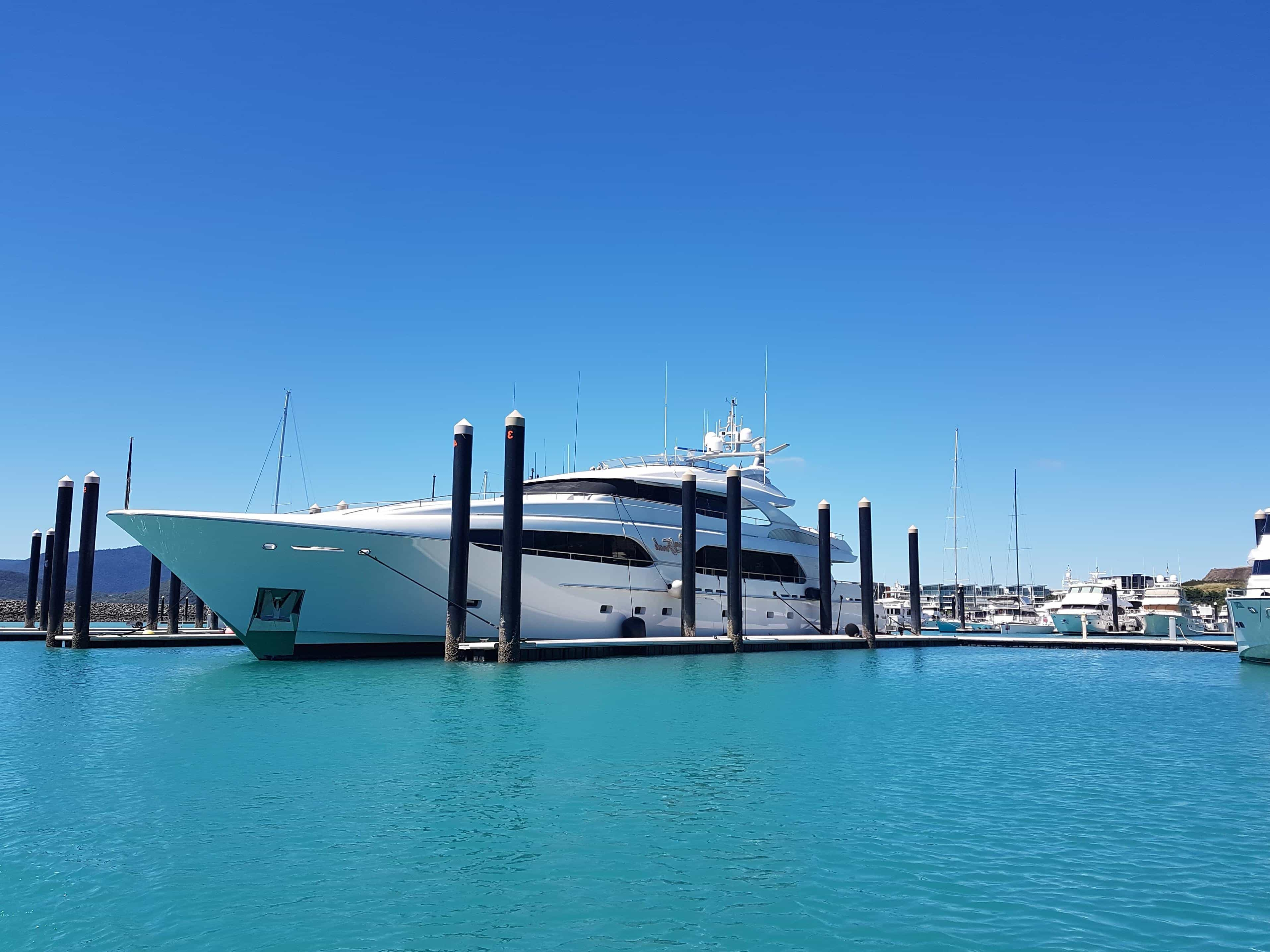 Free Picture Water Blue Sky Pier Ship Luxury Boat Yacht Sea Outdoor