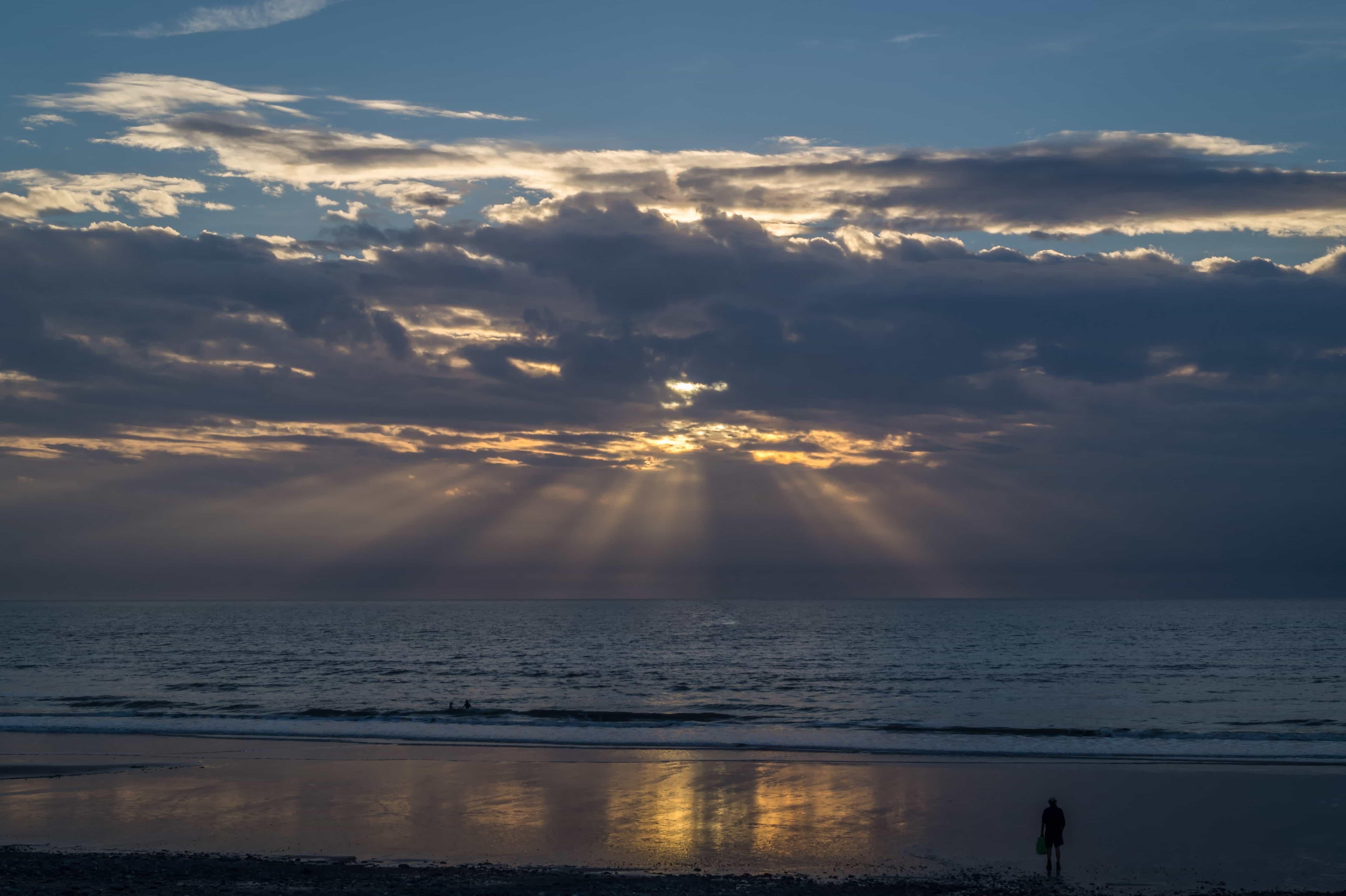 Free Picture Sunrise Sky Cloud Water Dawn Sea Sky