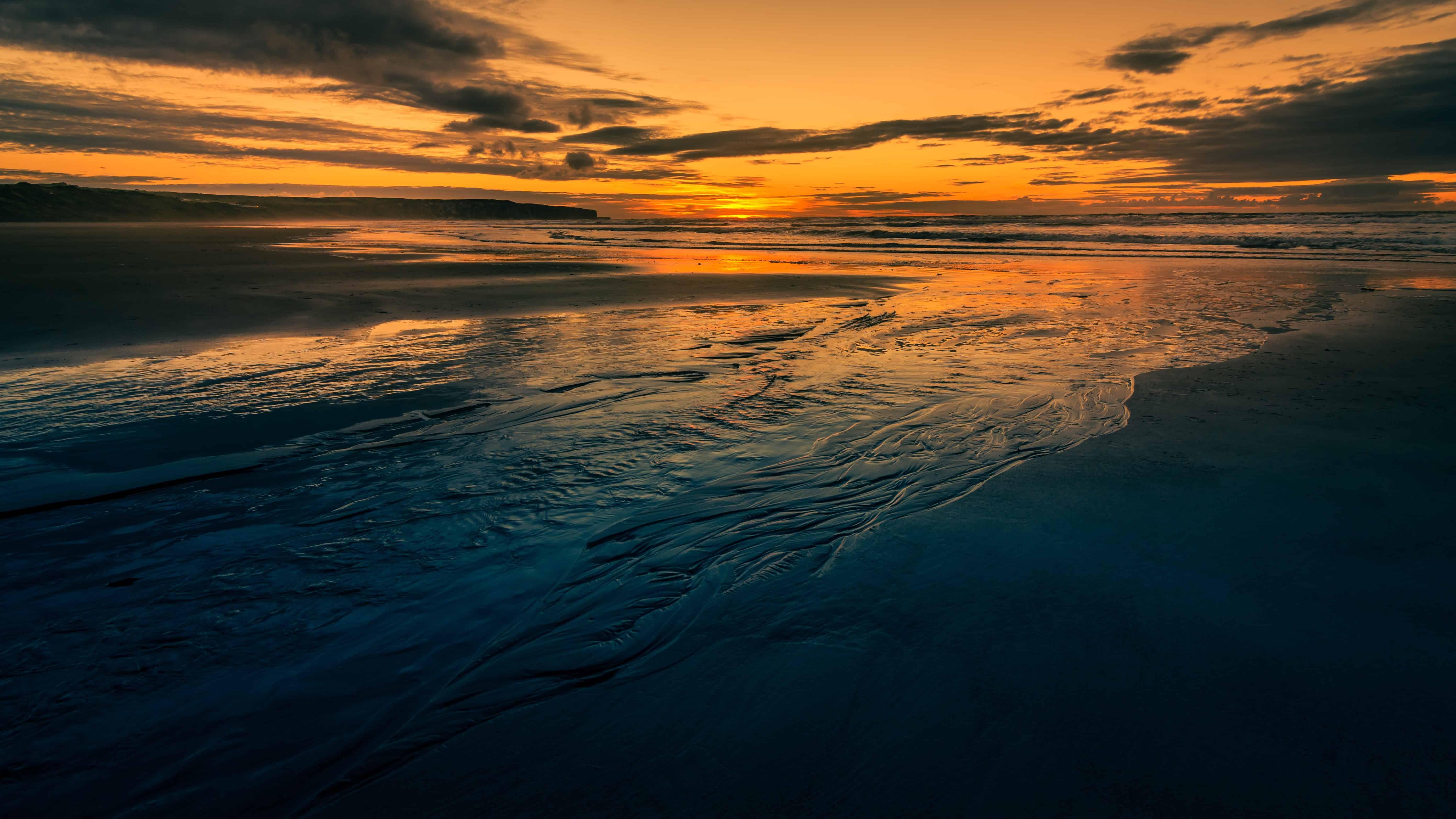 Free Picture Sea Beach Dawn Dusk Ocean Sunset Water