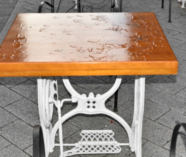 Furniture Rain Street Chair Seat Wood Design Table