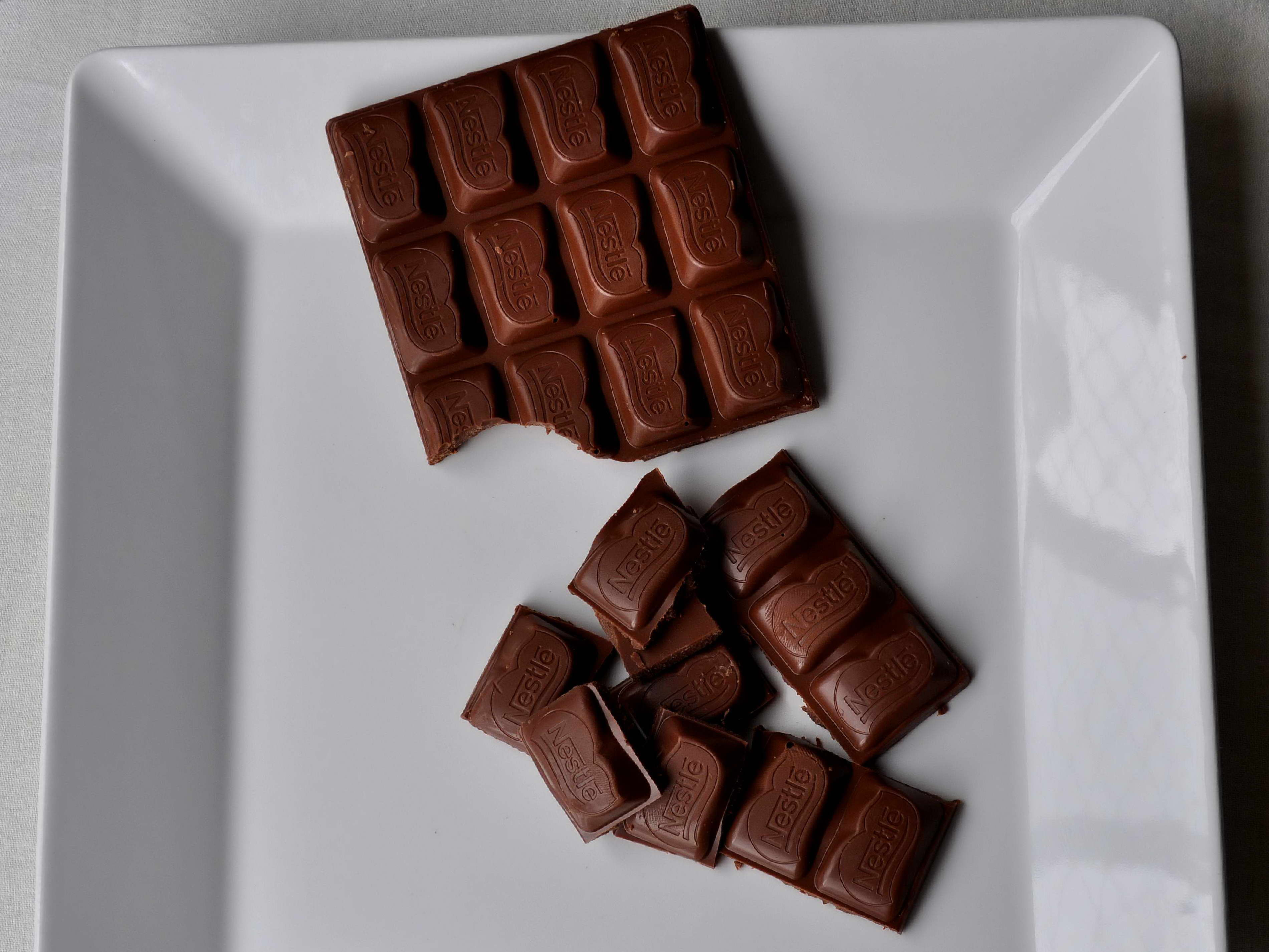 Free Picture Swiss Chocolate Plate