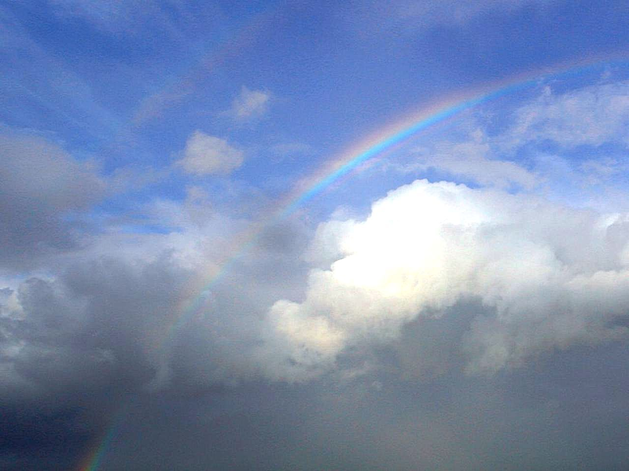 Free Picture Rainbows Couds Sky