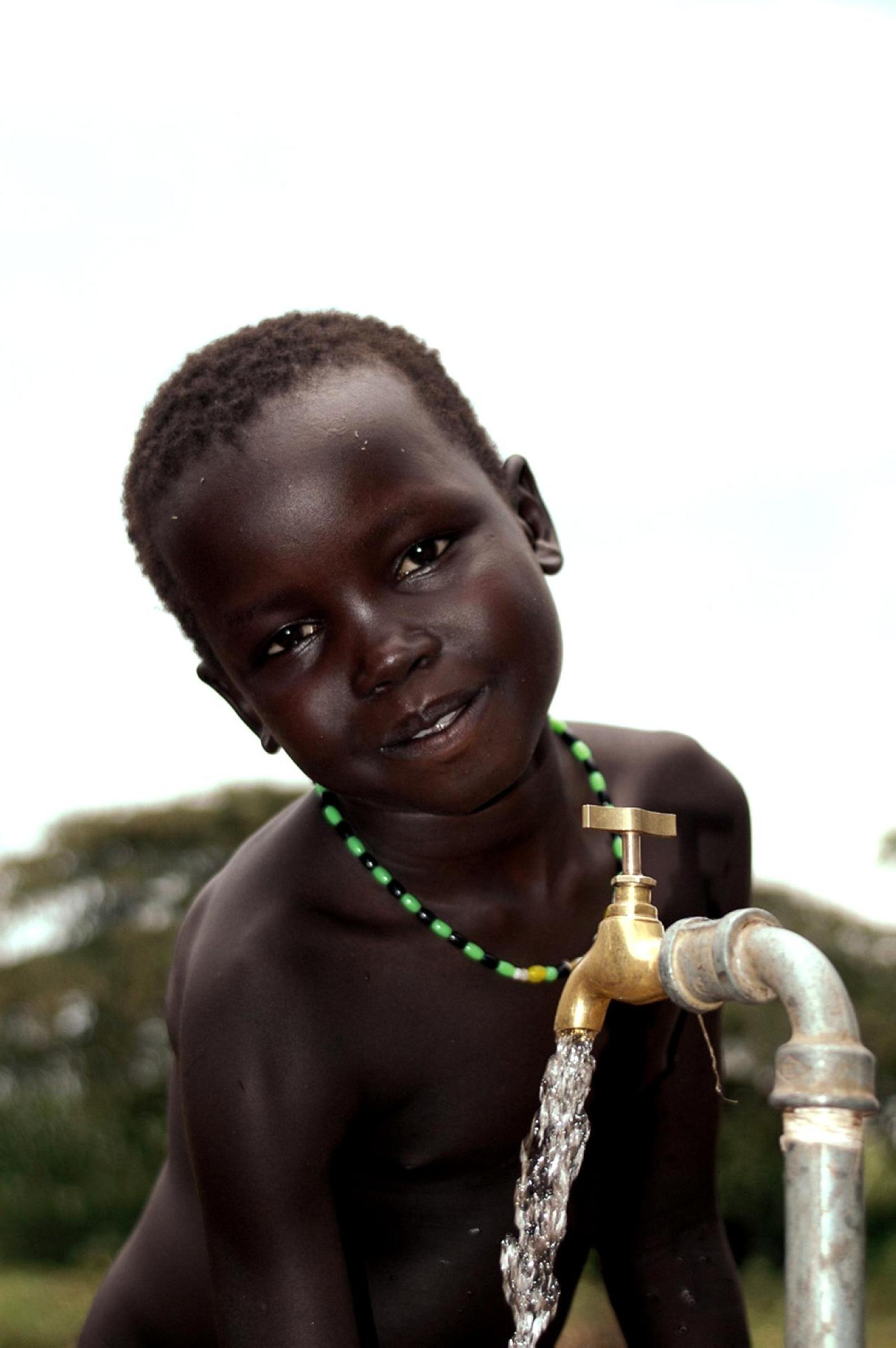 Free Picture Up Close Portrait Young African Boy