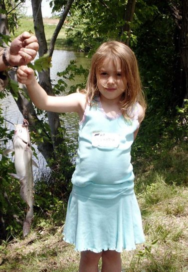 Free Picture Cute Little Girl Fishing