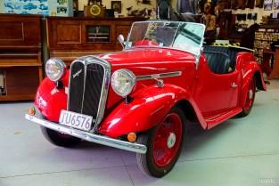 Vintage Red Singer Car
