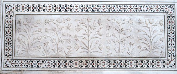Bas Relief and Inlay, Taj Mahal, Uttar Pradesh, India