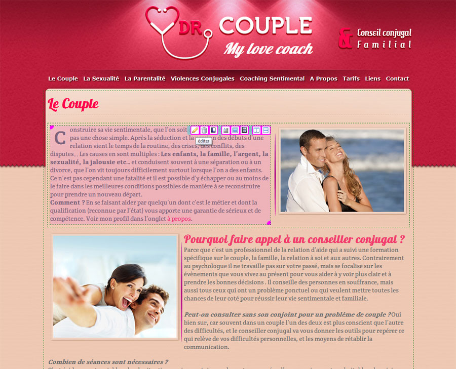 Editeur du site internet Dr couple