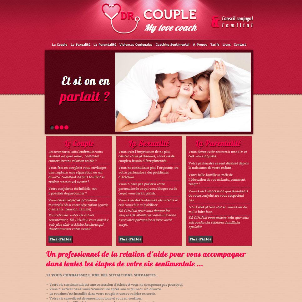 Site internet Dr couple page d'accueil