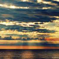 Abendsonne an der polnischen Ostsee (Rowy)