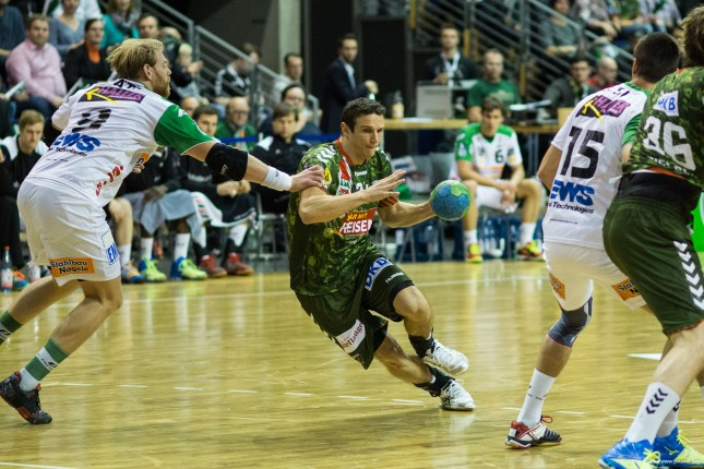 DKB Bundesliga Handball 23.12.2014 Füchse Berlin - Frisch Auf! Göppingen ,J.Radtke,www.pixxxel (44)