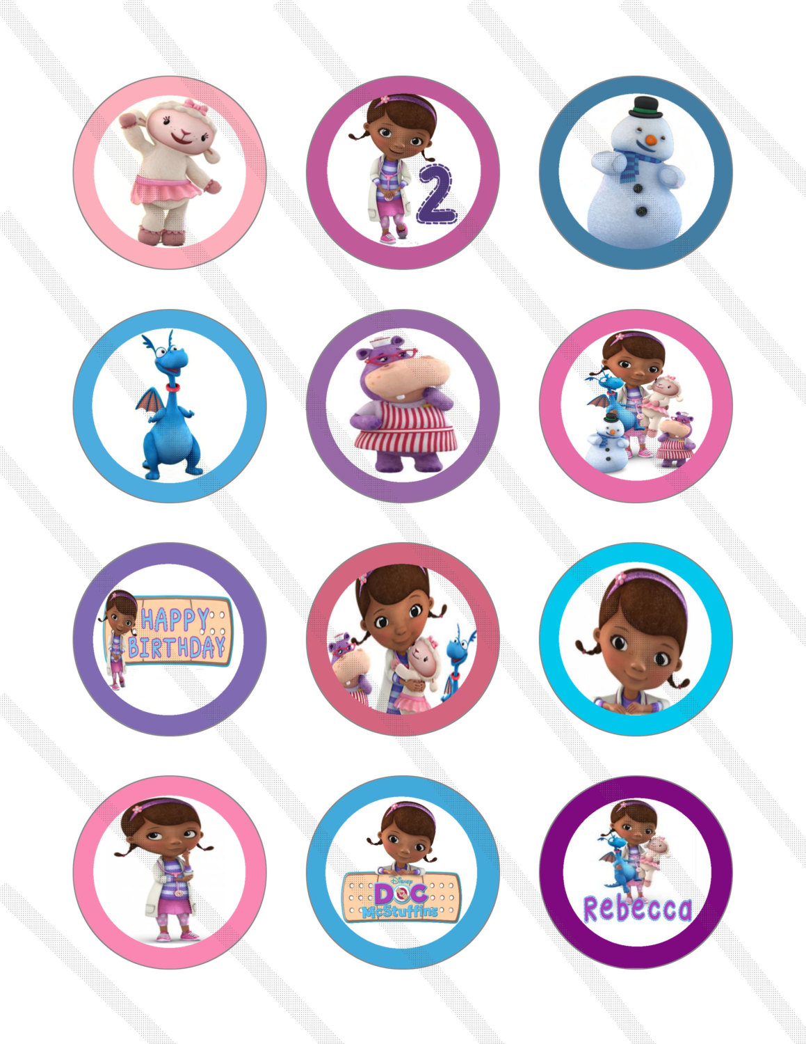 Doc Mcstuffins Printable Cupcake Toppers Free Image