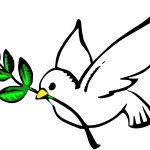 Peace Dove With Green Olive Branch Drawing Free Image
