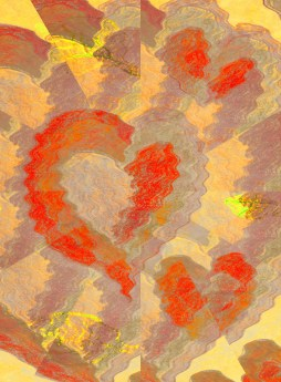 Heart love art abstract drawing free image