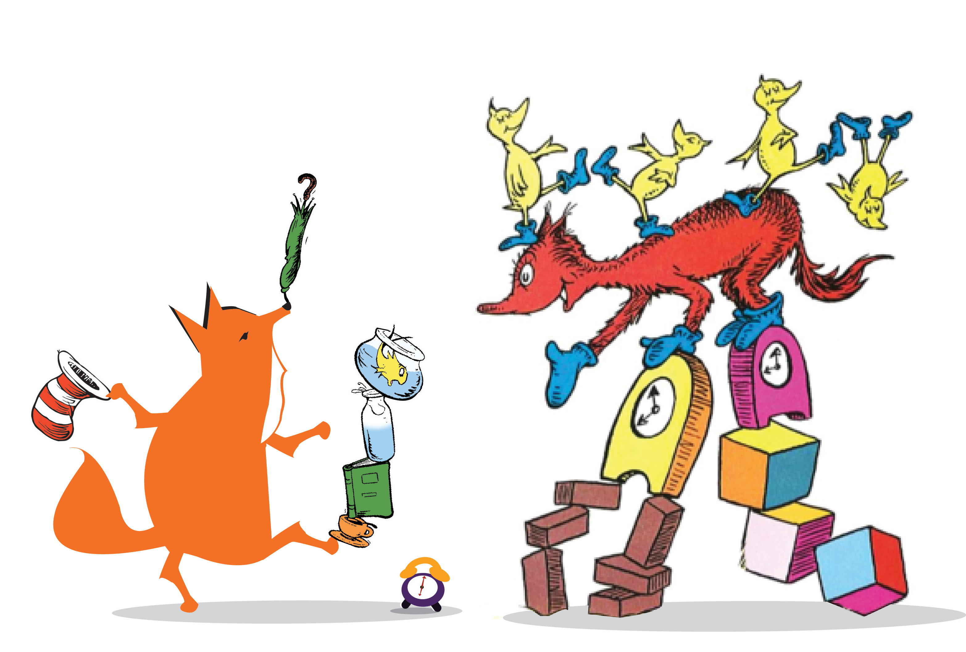 Dr Seuss Characters Fox In Socks Drawing Free Image