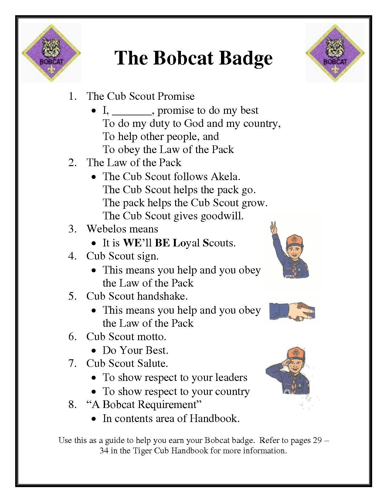Cub Scout Bobcat Badge N4 Free Image