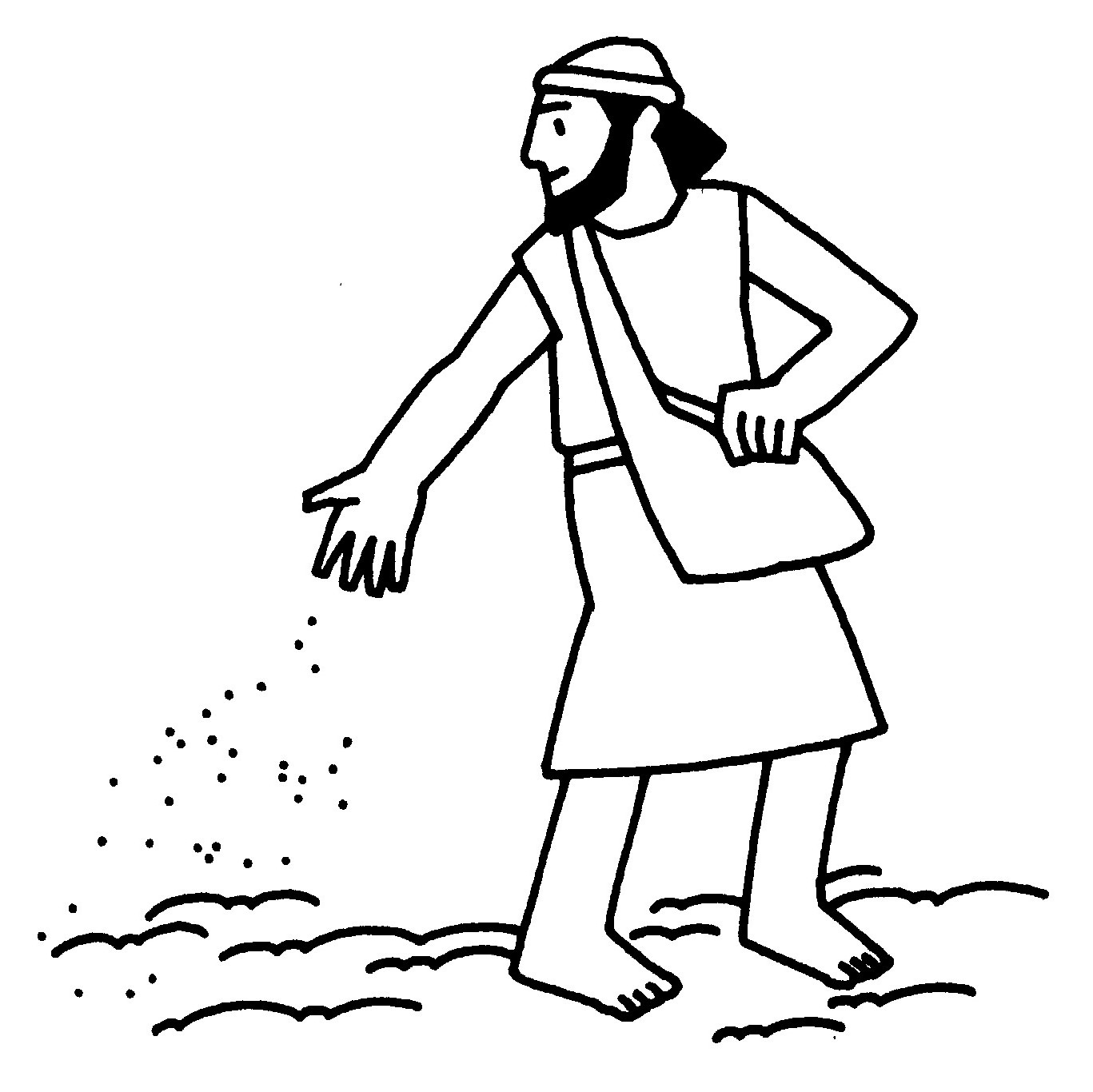 The Parable Of Sower And Seed Clip Art Free Image