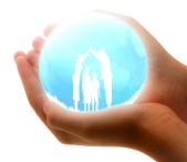 Clipart of the Family Insurance in hand free image