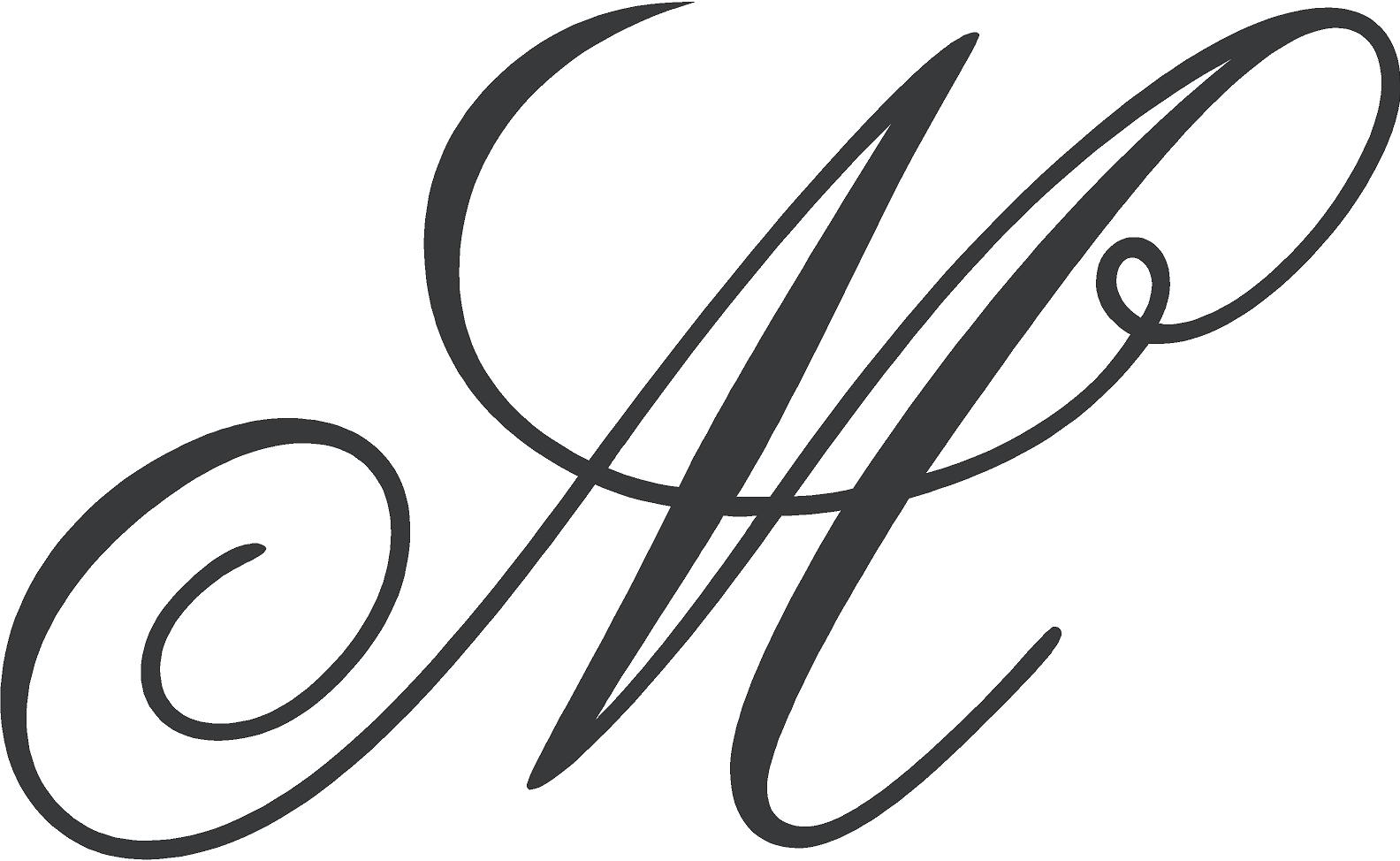 Fancy Cursive Letter M Drawing Free Image