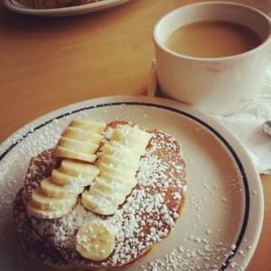 Whole-wheat banana pancakes ^_^