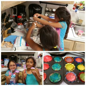Making cupcakes, completely on their own!