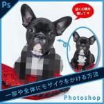 Photoshop(画像の一部や全体に)モザイクをかける方法【ピクセルアート】