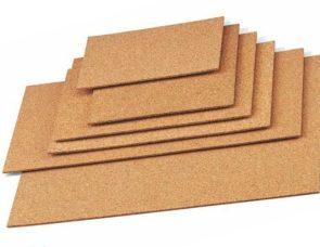 Láminas de corcho para fabricación de pizarras