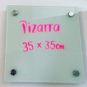 Pizarra de vidrio de 35 cm. x 35 cm.