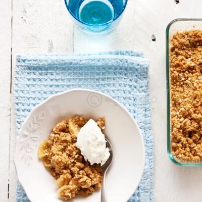 Crocante de manzana y quinua {sin gluten} | Apple and Quinoa crumble {gluten free}