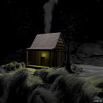 Fondos de escritorio: Navidad 2011 (XIV) : Fondo nevado con casa [ Imagen 1280×1024 ]