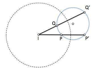 Dos puntos y sus inversos son concíclicos