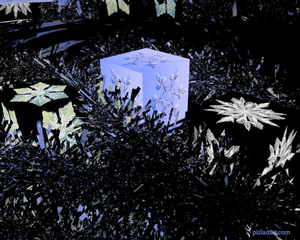 Espumillón de navidad y cubos texturados