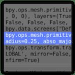 "Comandos ejecutables Python en ""Info view"""