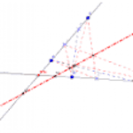 Eje proyectivo de dos series [Interactivo] [Geogebra]