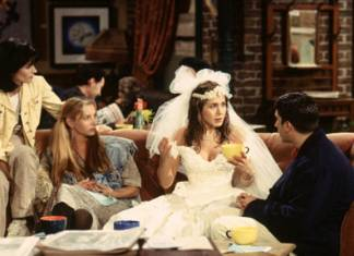 "Rachel apareció de esta guisa en el primer episodio de ""Friends"""