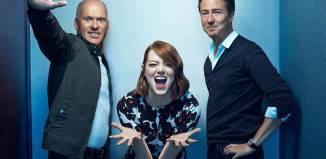 "Michael Keaton, Edward Norton y Emma Stone protagonizan ""Birdman"""