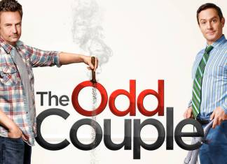 Matthew Perry y Thomas Lennon en The Odd Couple
