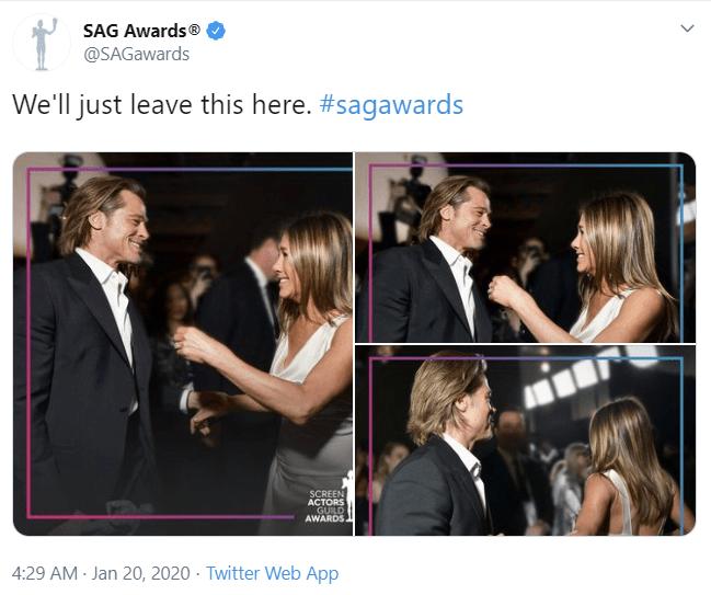 Reencuentro Jennifer Aniston y Brad Pitt