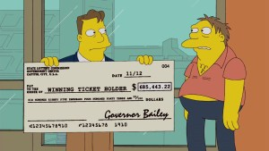 Loteria Simpsons Numeros loteria Simpson Lotto numbers